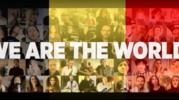 "60 artistes belges reprennent le titre ""We Are The World"""