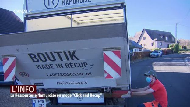"La Ressourcerie Namuroise en mode ""Click and Recup"""